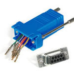 C2G Modular Adapter, RJ-45 to DB9 (M), Blue 02946
